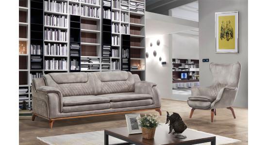 Комплект мягкой мебели Стар (Серый)