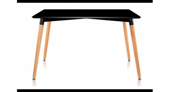 Стол обеденный дизайнерский LINK (черный)