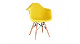 Стул дизайнерский HUGO (желтый)