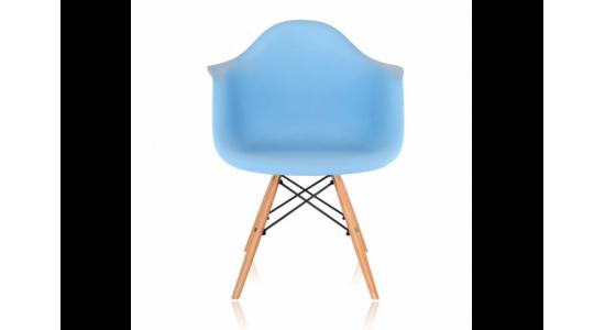 Стул дизайнерский HUGO (голубой)
