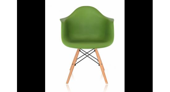 Стул дизайнерский HUGO (зеленый)