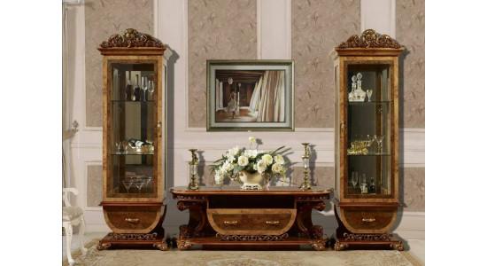 Шкафы-витрины и ТВ подставка Принцесса (Орех)