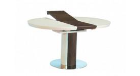 Стол обеденный (трансформер) NICE (сатинированное стекло беж/орех)