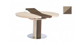 Стол обеденный (трансформер) NICE (сатинированное стекло мокка/кэмл)