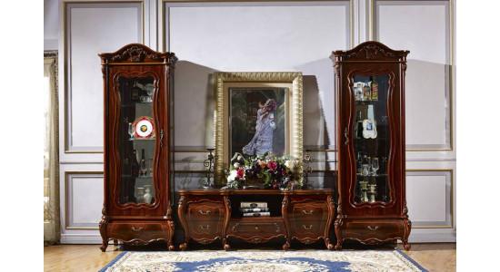 Колонки и подставка ТВ Мона Лиза (цвет: орех)