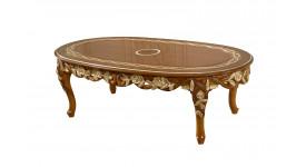 Журнальный стол Венеция (цвет: Королевский орех + золото)