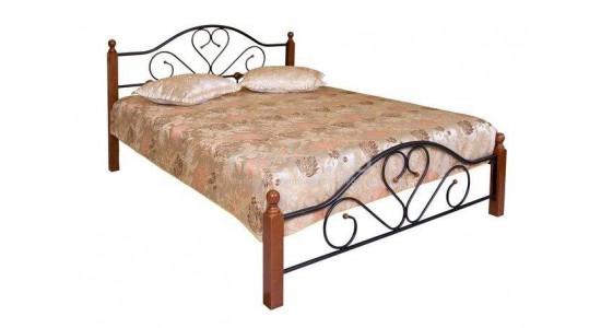 Кровать FD 802 (решетка металлическая) (темная вишня)