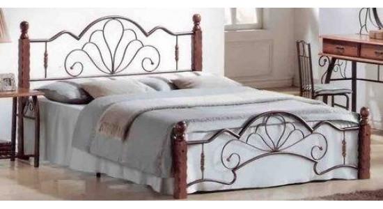 Кровать FD 871 (решетка металлическая) (темная вишня)