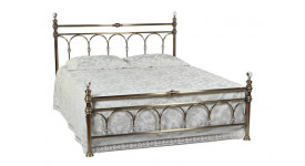 Кровать 9801 L (Античная медь- с кристаллами)
