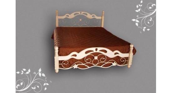 Кровать  PS 8812  (решетка металлическая) (античный кремовый)