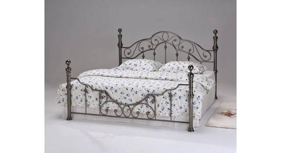 Кровать 9603 Каролина (черный никель)