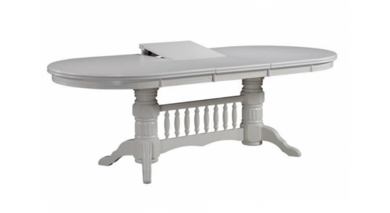 Стол обеденный деревянный (трансформер) LOUISIANA (белый)