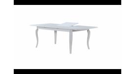 Стол обеденный деревянный (трансформер) VANESSA (белый)