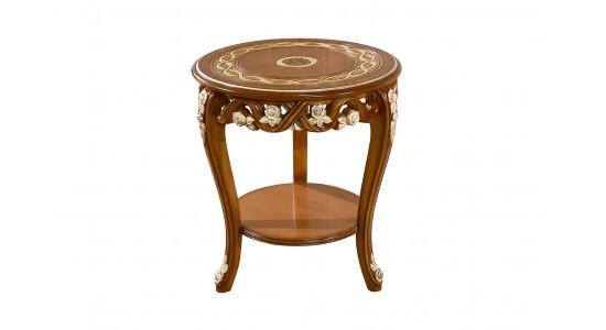 Стол кофейный Венеция (цвет: Королевский орех + золото)