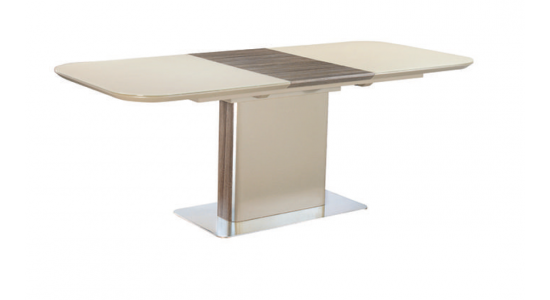 Стол обеденный (трансформер) ALFA (сатинированное стекло мокко/кэмел)
