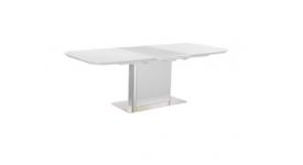 Стол обеденный (трансформер) ALFA (белое сатинированное стекло)