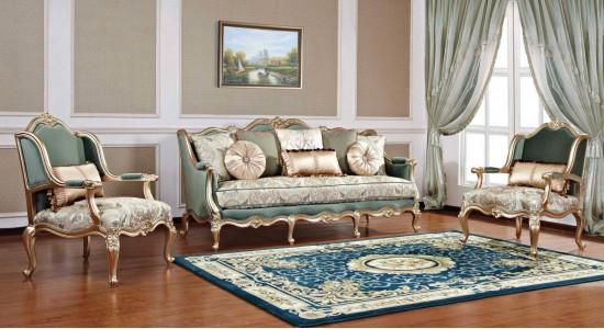 Комплект классической мягкой мебели для гостиной Бальтазар (массив)