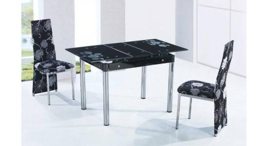 Стол обеденный (трансформер) A-163 (черный)