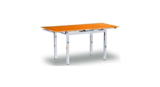 Стол обеденный (трансформер) MIX-2 (оранжевый)