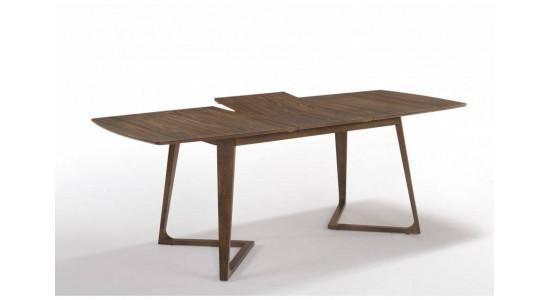 Стол обеденный скандинавский (трансформер) ALISSA (140-180) (орех)