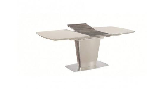 Стол обеденный (трансформер) TESS (сатинированное стекло мокко/кэмел)