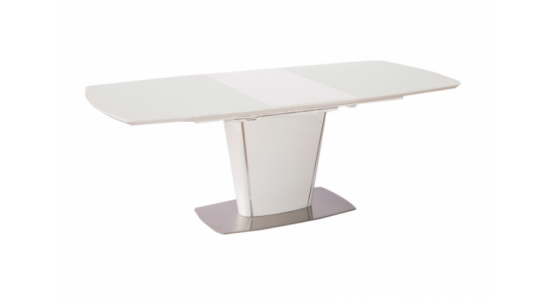 Стол обеденный (трансформер) TESS (белое сатинированное стекло)