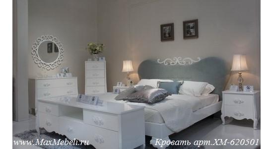 Белая глянцевая спальня XM-620501