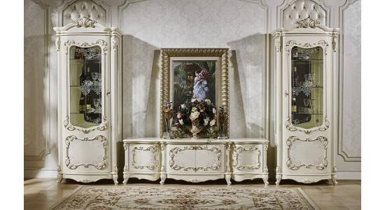 Колонки и подставка ТВ Венеция (Слоновая кость+золото)