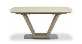 Стол обеденный (трансформер) ATLANTA (сатинированное стекло крем/мокка)