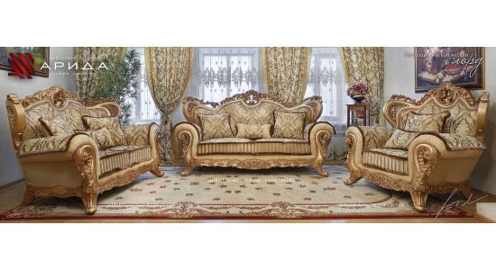Набор мягкой мебели «ЛОРД» золото / валей голд