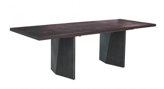Стол обеденный (трансформер) LUXOR (коричневый камень/серый)