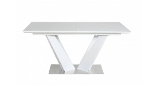 Стол обеденный (трансформер) ATLANT (белый) 1.6 м.