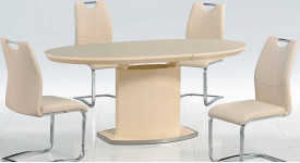 Стол обеденный (трансформер) ISLAND (бежевый)