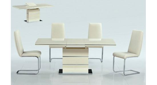 Стол обеденный (трансформер) STAR (ваниль)