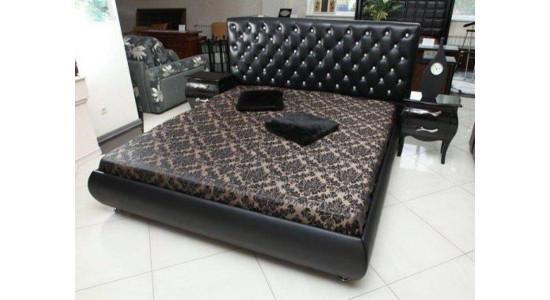 Кровать Татами 1107 (чёрная кожа)