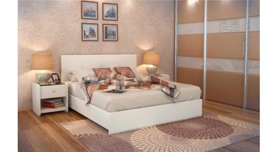 Кровать Изабела Экотекс (белая)