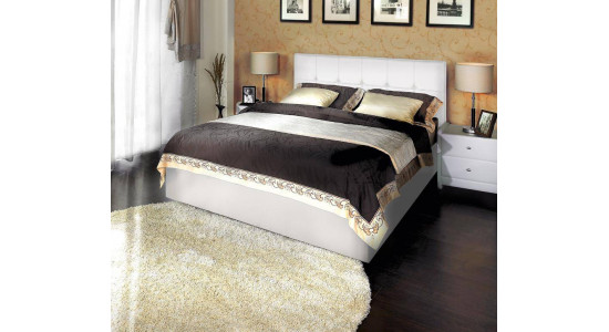 Кровать Грета Экотекс (белая)