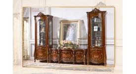 Колонки и ТВ подставка Магдалена (цвет: орех+золото)