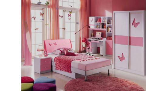 Детская спальня Пиккола (розово-белый)