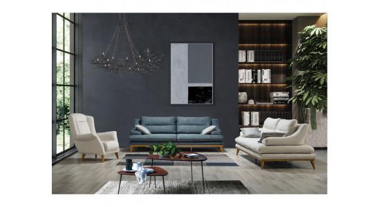 Комплект мягкой мебели Имза (Голубой)