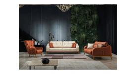 Комплект мягкой мебели Элит (Коричневый)