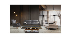 Комплект мягкой мебели Имза (Графитовый)