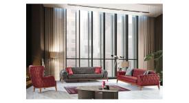 Комплект мягкой мебели Лисабон (Графитовый)