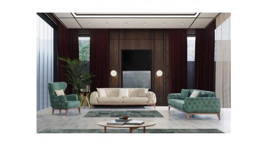 Комплект мягкой мебели Лисабон (Зеленый)