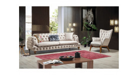 Комплект мягкой мебели Честер (бежевый)