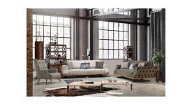 Комплект мягкой мебели Престиж (Бежевый)