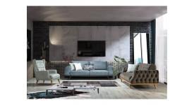 Комплект мягкой мебели Престиж (Серый)