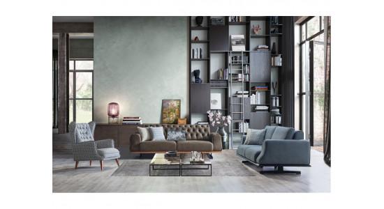Комплект мягкой мебели Престиж (Графитовый)