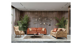 Комплект мягкой мебели Стар (Бежевый)