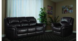 Кожаная мягкая мебель с цветом обивки серый, с цветом дерева серый